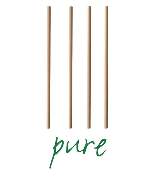 """Słomki z papieru, """"pure"""", średnica 6 mm, 20 cm, Brązowe, 1000 szt. w op."""