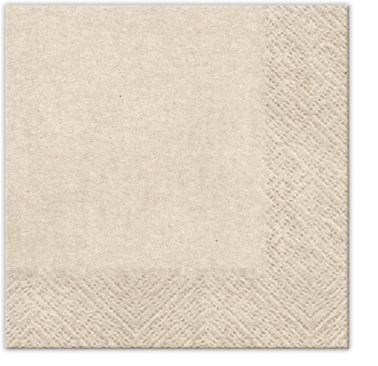Serwetki Coctailowe Craft, 2 – warstwowe Tissue z recyklingu, 24 cm x 24 cm, składane na 1/4, 4000 szt. w op.