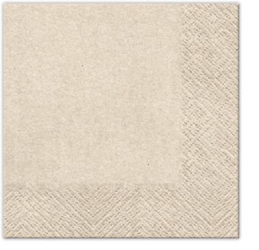Serwetki Tissue 3-warstwowe, 25 x 25, WE CARE Kraft, składane na 1/4, 240 szt. w op.