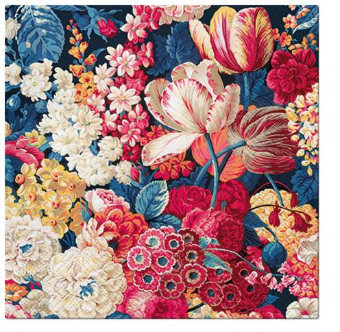 Serwetki Tissue 3-warstwowe, 33 x 33, Decor FLOWER SPLENDOR, składane na 1/4, 240 szt. w op.