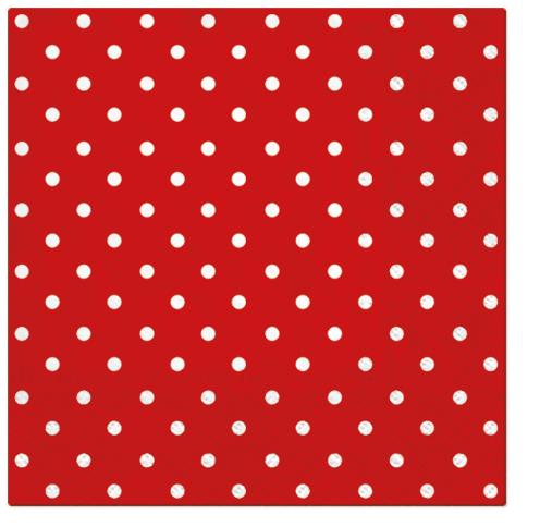 Serwetki Tissue 3-warstwowe, 33 x 33, Decor DOTS czerwone, składane na 1/4, 240 szt. w op.