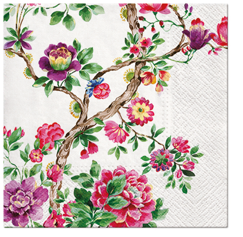 Serwetki Tissue 3-warstwowe, 33 x 33, Decor JAPANESE GARDEN, składane na 1/4, 240 szt. w op.