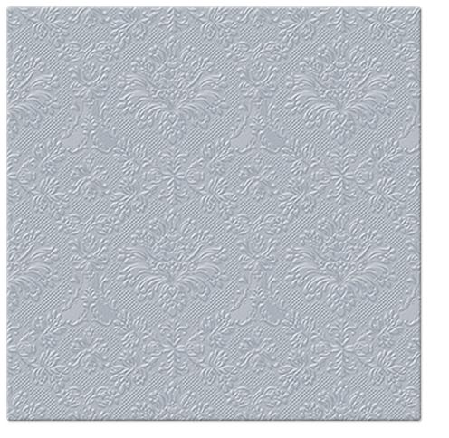 Serwetki Tissue 3-warstwowe, 33 x 33, Decor INSPIRATION CLASSIC srebrne, składane na 1/4, 240 szt. w op.