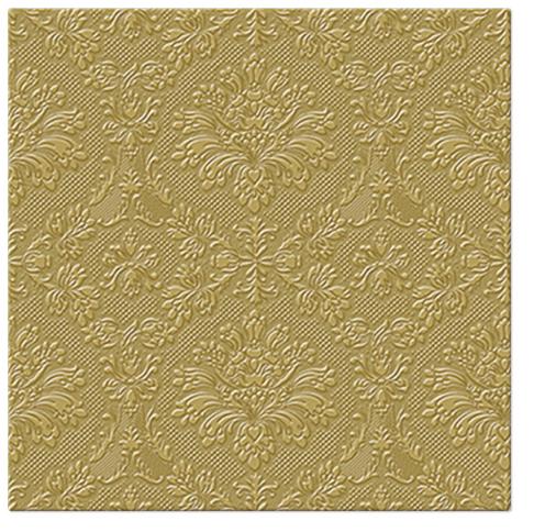 Serwetki Tissue 3-warstwowe, 33 x 33, Decor INSPIRATION CLASSIC złote, składane na 1/4, 240 szt. w op.