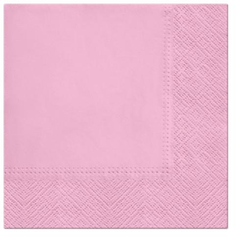 Serwetki Tissue 3-warstwowe, 33 x 33, Rosa, składane na 1/4, 240 szt. w op.