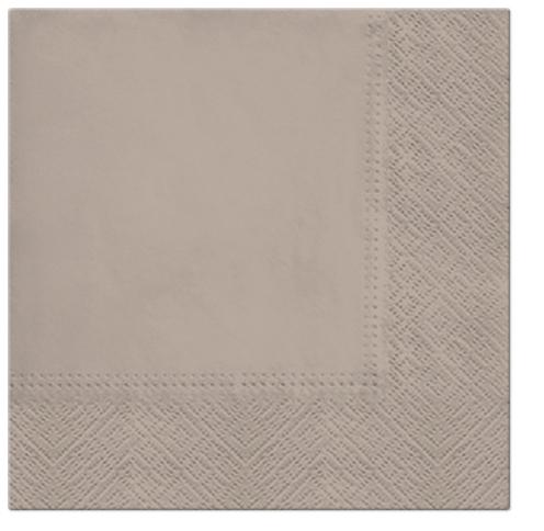 Serwetki Tissue 3-warstwowe, 33 x 33, Dark Beige, składane na 1/4, 240 szt. w op.