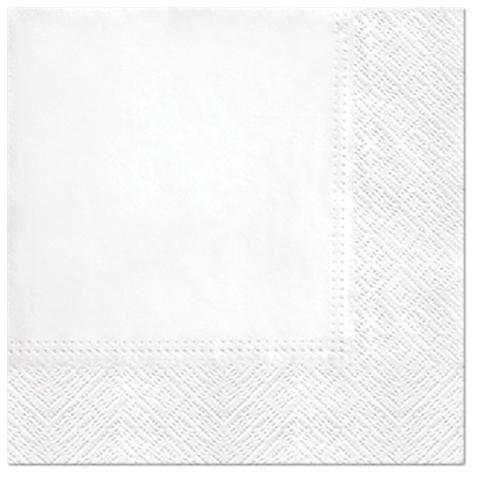 Serwetki Tissue 3-warstwowe, 33 x 33, White, składane na 1/4, 240 szt. w op.
