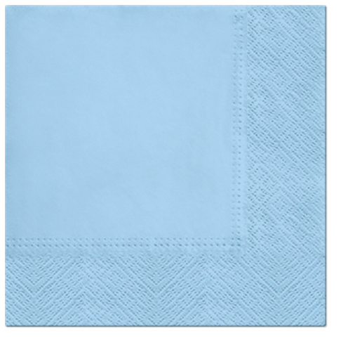 Serwetki Tissue 3-warstwowe, 33 x 33, Azzurro, składane na 1/4, 240 szt. w op.