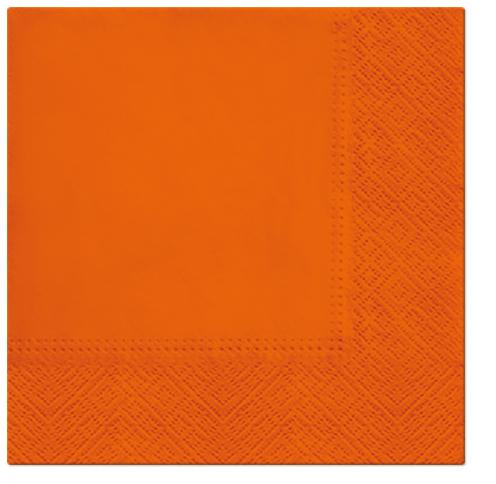 Serwetki Tissue 3-warstwowe, 33 x 33, Orange, składane na 1/4, 240 szt. w op.
