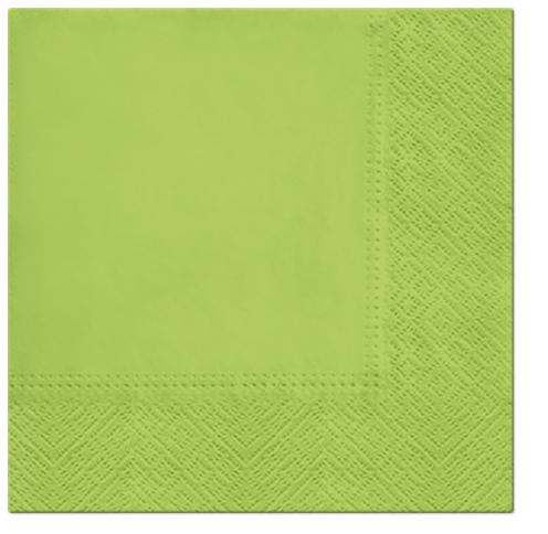 Serwetki Tissue 3-warstwowe, 33 x 33, Anise Green, składane na 1/4, 240 szt. w op.