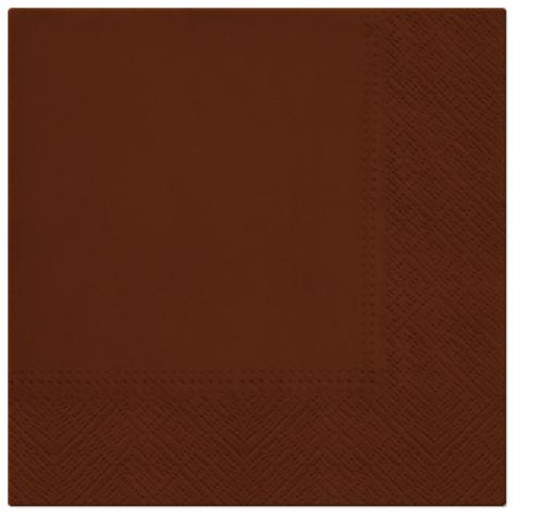Serwetki Tissue 3-warstwowe, 33 x 33, Chocolate, składane na 1/4, 240 szt. w op.