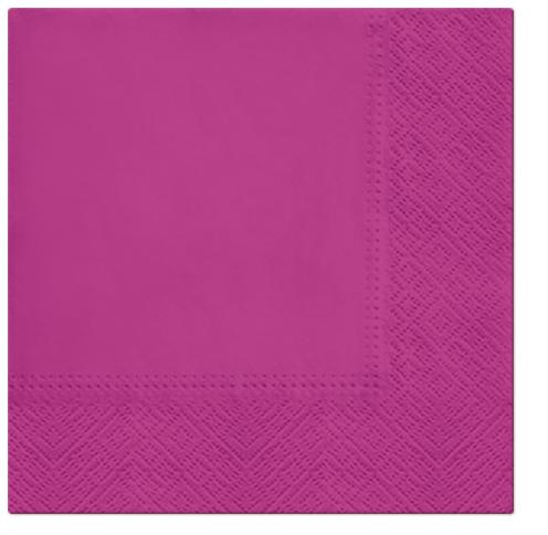 Serwetki Tissue 3-warstwowe, 33 x 33, Hortensia, składane na 1/4, 240 szt. w op.