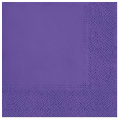 Serwetki Tissue 3-warstwowe, 33 x 33, Lilac, składane na 1/4, 240 szt. w op.