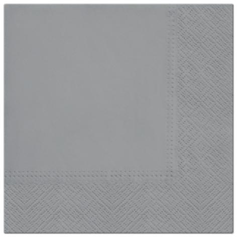 Serwetki Tissue 3-warstwowe, 33 x 33, Grey, składane na 1/4, 240 szt. w op.