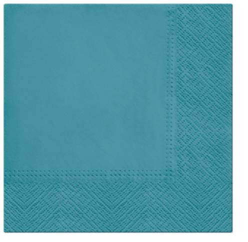 Serwetki Tissue 3-warstwowe, 33 x 33, Turquoise, składane na 1/4, 240 szt. w op.