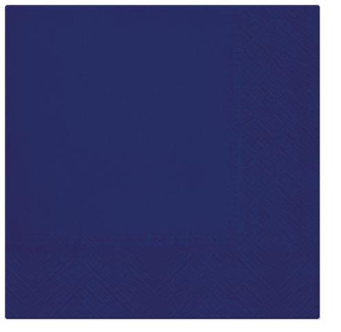 Serwetki Tissue 3-warstwowe, 33 x 33, Navy Blue, składane na 1/4, 240 szt. w op.