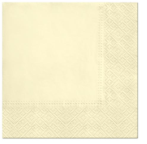 Serwetki Tissue 3-warstwowe, 33 x 33, Champagne, składane na 1/4, 240 szt. w op.