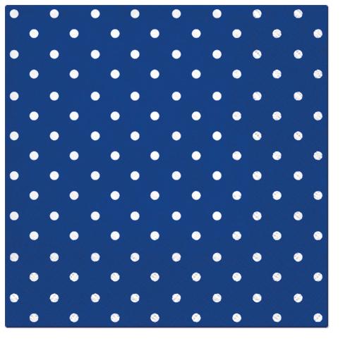 Serwetki Tissue 3-warstwowe, 33 x 33, Decor DOTS niebieskie, składane na 1/4, 240 szt. w op.