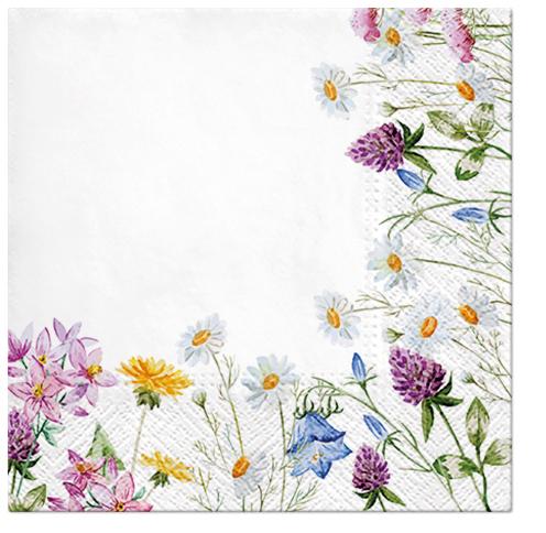 Serwetki Tissue 3-warstwowe, 33 x 33, Decor SPRING FRAME, składane na 1/4, 240 szt. w op.