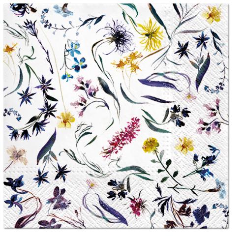 Serwetki Tissue 3-warstwowe, 33 x 33, Decor FLOWERS MEMORY, składane na 1/4, 240 szt. w op.