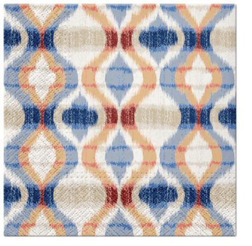 Serwetki Tissue 3-warstwowe, 33 x 33, Decor AFRICAN VIBE pomarańczowe, składane na 1/4, 240 szt. w op.
