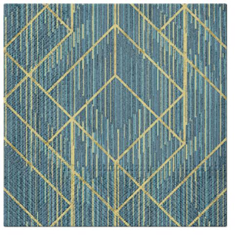 Serwetki Tissue 3-warstwowe, 33 x 33, Decor GEOMETRIC DECO, składane na 1/4, 240 szt. w op.