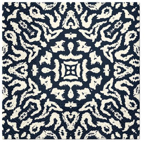 Serwetki Tissue 3-warstwowe, 33 x 33, Decor TRIBE PRINT, składane na 1/4, 240 szt. w op.