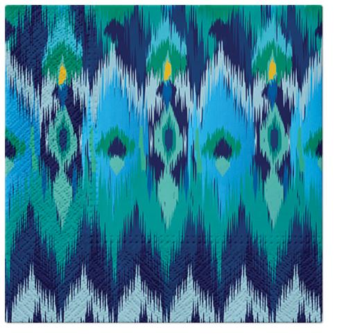 Serwetki Tissue 3-warstwowe, 33 x 33, Decor PEACOCK FEATHERS, składane na 1/4, 240 szt. w op.