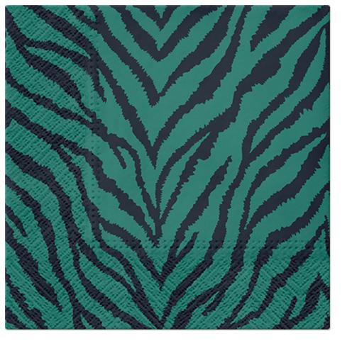 Serwetki Tissue 3-warstwowe, 33 x 33, Decor ZEBRA PATTERN, składane na 1/4, 240 szt. w op.