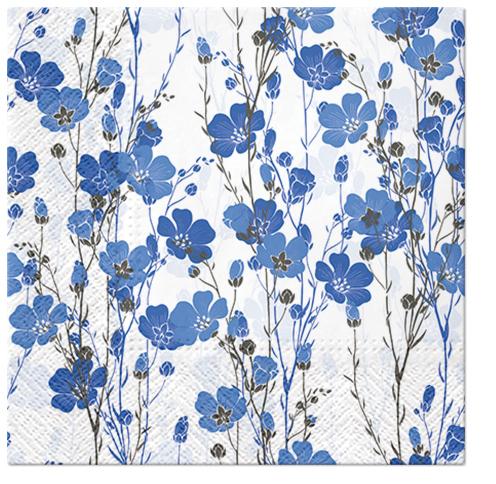 Serwetki Tissue 3-warstwowe, 33 x 33, Decor FLAX PLANTS, składane na 1/4, 240 szt. w op.