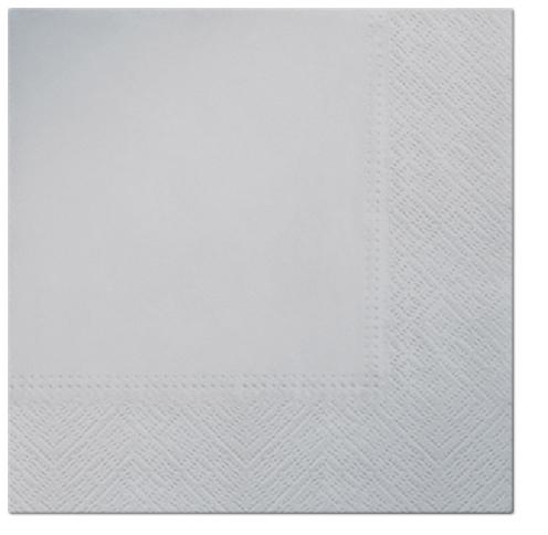 Serwetki Tissue 3-warstwowe, 33 x 33, Silver, składane na 1/4, 240 szt. w op.