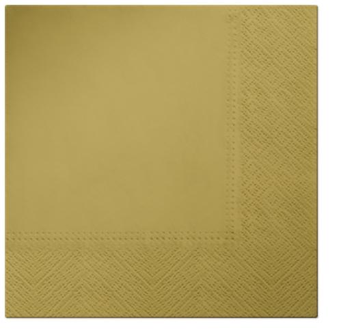 Serwetki Tissue 3-warstwowe, 33 x 33, Gold, składane na 1/4, 240 szt. w op.