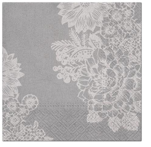 Serwetki Tissue 3-warstwowe, 33 x 33, Decor LOVELY LACE, składane na 1/4, 240 szt. w op.