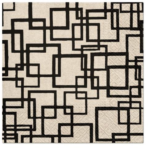 Serwetki Tissue 3-warstwowe, 33 x 33, WE CARE RECTANGLES, składane na 1/4, 240 szt. w op.