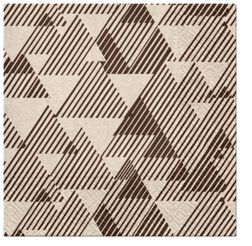 Serwetki Tissue 3-warstwowe, 33 x 33, WE CARE TRIANGLES, składane na 1/4, 240 szt. w op.