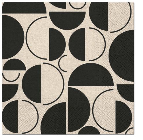 Serwetki Tissue 3-warstwowe, 33 x 33, WE CARE STYLISH RINGS, składane na 1/4, 240 szt. w op.