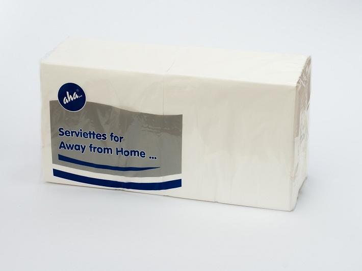 Serwetki Coctailowe Białe, 2 – warstwowe Tissue, 24 cm x 24 cm, składane na 1/4, 2000 szt. w op.