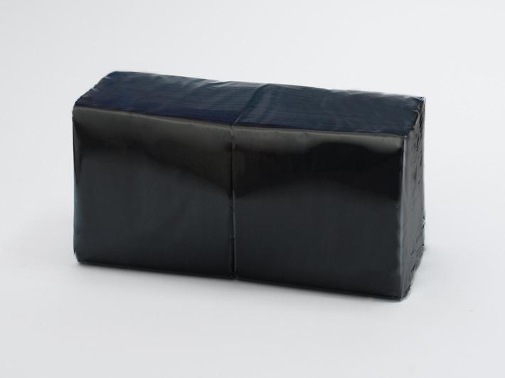 Serwetki Coctailowe Czarne, 2 – warstwowe Tissue, 24 cm x 24 cm, składane na 1/4, 2000 szt. w op.
